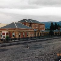 The former Northern Pacific station at Livingston MT